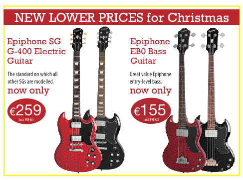 Specially Reduced Christmas Prices On Gibson Epiphone Guitars