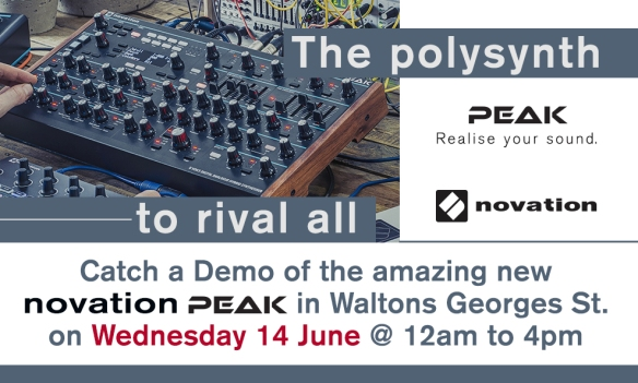 Novation Specialist Mark Lowes to Demo the New Novation Peak