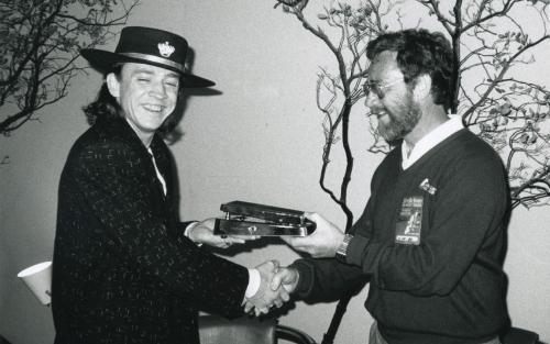 jim dunlop Stevie Ray Vaughan photo